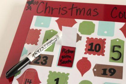 Dry Erase Christmas Advent Countdown Calendar makeandtakes.com