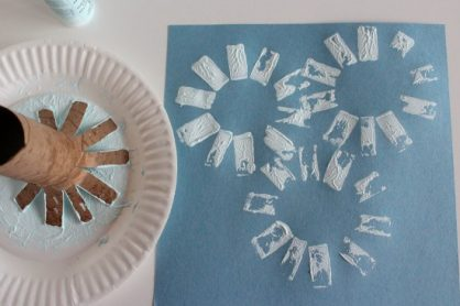 Paper Tube Snowflake Stamps makeandtakes.com