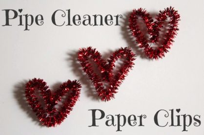Pipe Cleaner Heart Paper Clips makeandtakes.com