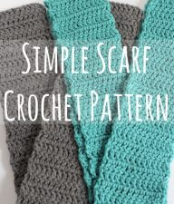 Simple Scarf Crochet Pattern makeandtakes.com