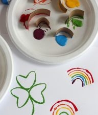 St. Patricks Day Paper Tube Stamping makeandtakes.com