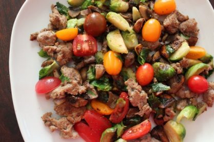 Turkey Sausage Vegetable Stir fry