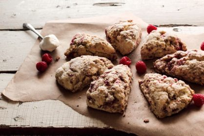 Raspberry Cream Cheese Scones