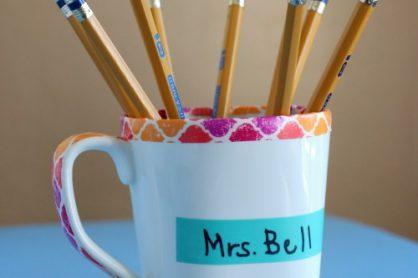 Personalized Pencil Mugs makeandtakes.com