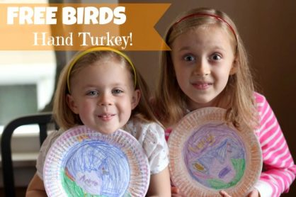 Make a Hand Turkey with Free Birds makeandtakes.com