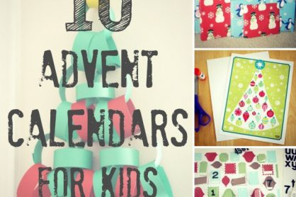 10 Advent Calendars for Kids makeandtakes.com