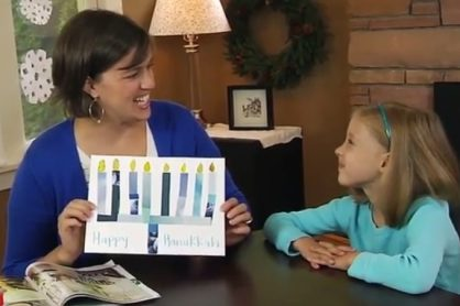 Paper Menorah Hanukkah Craft with Kids @makeandtakes.com