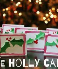 Kid-Made Holly Cards