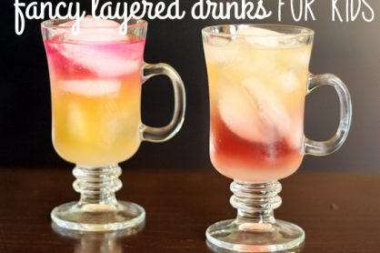 Fancy layered drinks for kids