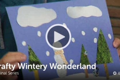 Kids Craft Winter Wonderland Scene @makeandtakes.com