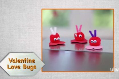 Pom Pom Valentine Lovebug Magnets @makeandtakes.com