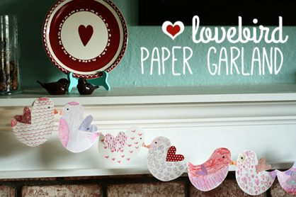 Lovebird paper garland craft for kids