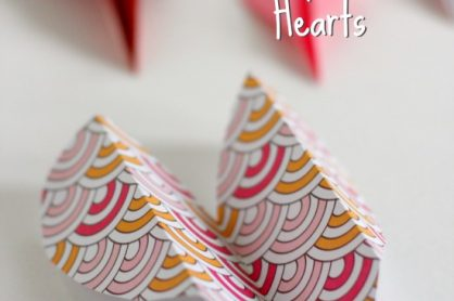 Folding Heart Airplane Valentine Crafts for kids @makeandtakes.com