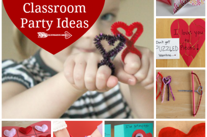 Valentine's Classroom Party Ideas for Kids @makeandtakes.com #valentines