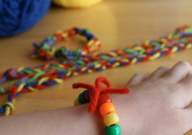 Making Rainbow Friendship Bracelets