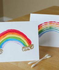 17 DIY Lucky Rainbows to Make Qtip Rainbows