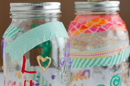DIY Mason Jar Money Bank Kids Craft