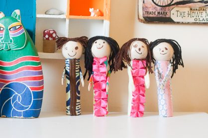 Paper Tube People by Francine Clouden (2 of 3)
