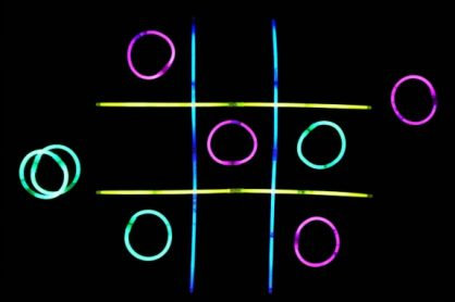 Glow Stick Tic-Tac-Toe Night Games for Kids