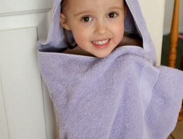 Hooded bath towel