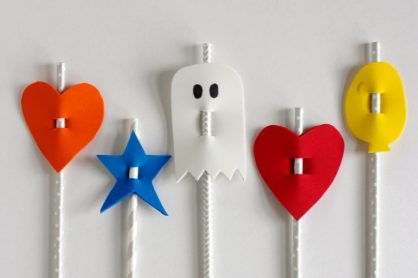 Silly Straw Sippers for Kids to Make