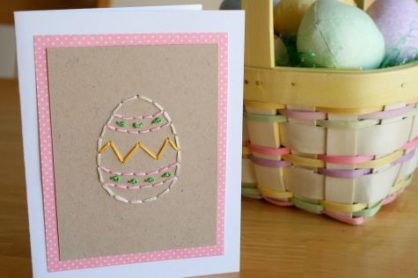 Easter Egg Stitched Card