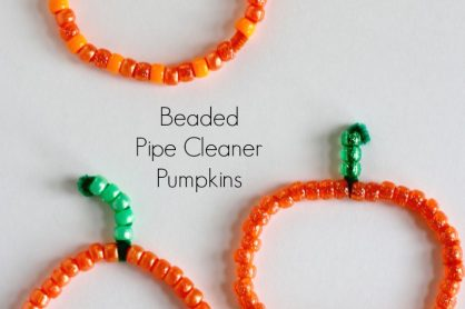 Festive Beaded Pipe Cleaner Pumpkins