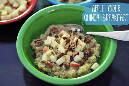 Apple Cider Quinoa Breakfast