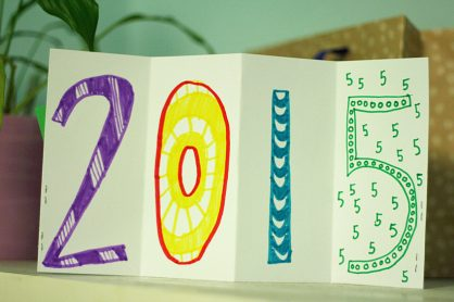 New Year's Wishes accordion book