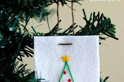 Felt Stitched Ornaments Kids Craft