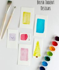 Painting Watercolor Brush Indent Designs for Gift Tags
