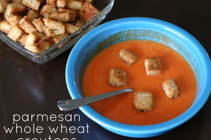Kids in the kitchen: Parmesan whole wheat croutons