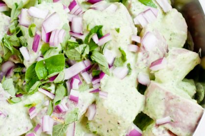 Healthy Potato Salad with Creamy Pesto Dressing