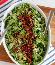 Arugula Salad with Bacon Vinaigrette Dressing