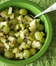 Kids in the Kitchen: Green fruit salad