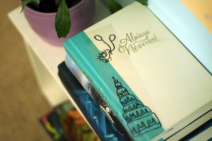 See-through bookmark craft with Sharpies