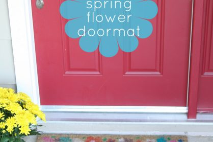 Spring Flower Doormat Kid-Made Project