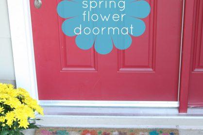 Spring Flower Doormat Kid-Made Project