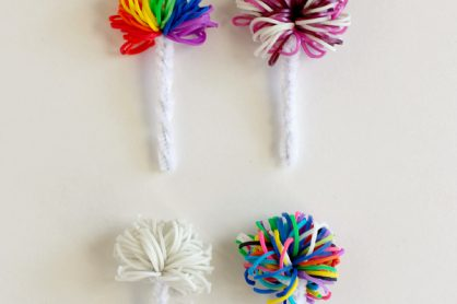 Rainbow Loom Band Pipe Cleaner Pom Poms
