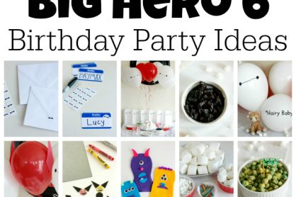 Big Hero 6 Birthday Party Ideas for Games and Crafts