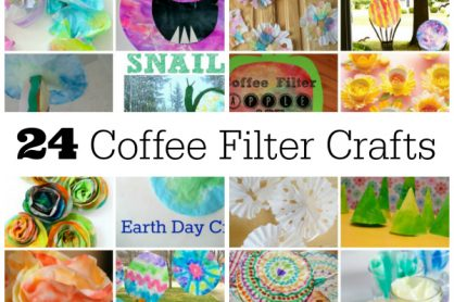 24 Coffee Filter Crafts for Kids to Make