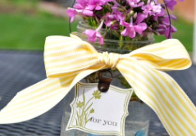 Mother's Day Mason Jar Vase