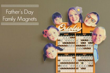 Father's Day Craft of Family Picture Magnets