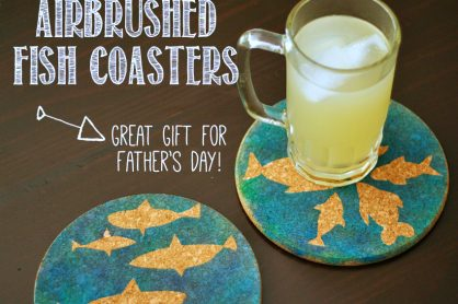 Airbrushed Fish Coasters to Make for Father's Day
