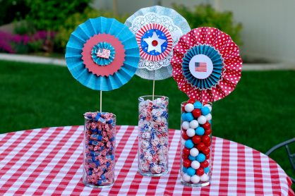 Paper Lollies Craft for 4th of July