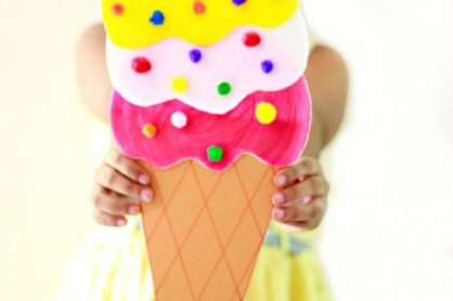 Giant Ice Cream Cone Craft