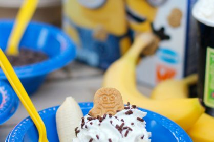 Make Minions Ba-Ba-Banana Ice Cream Sundaes