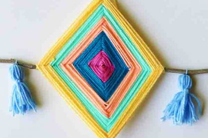 DIY Gods Eye Outdoor Craft