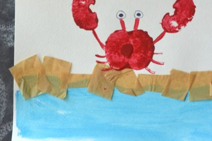 Apple Stamped Crab - Kid Craft