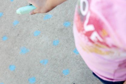 Sidewalk Chalk Games for Kids- Dots and Boxes